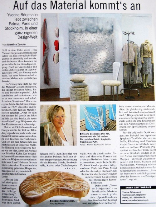Home Couture Press, Yvonne Börjesson