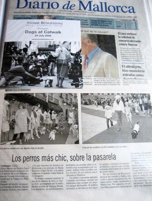 Yvonne Borjesson Chien Chic Press, Diario de Mallorca