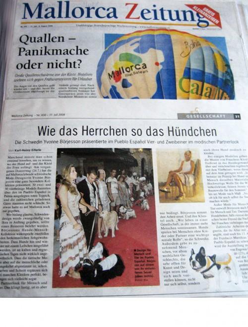 Yvonne Borjesson Chien Chic Press, Mallorca Zeitung